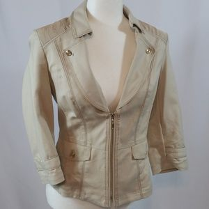 WHBM Cropped Fitted Jacket Sz 4